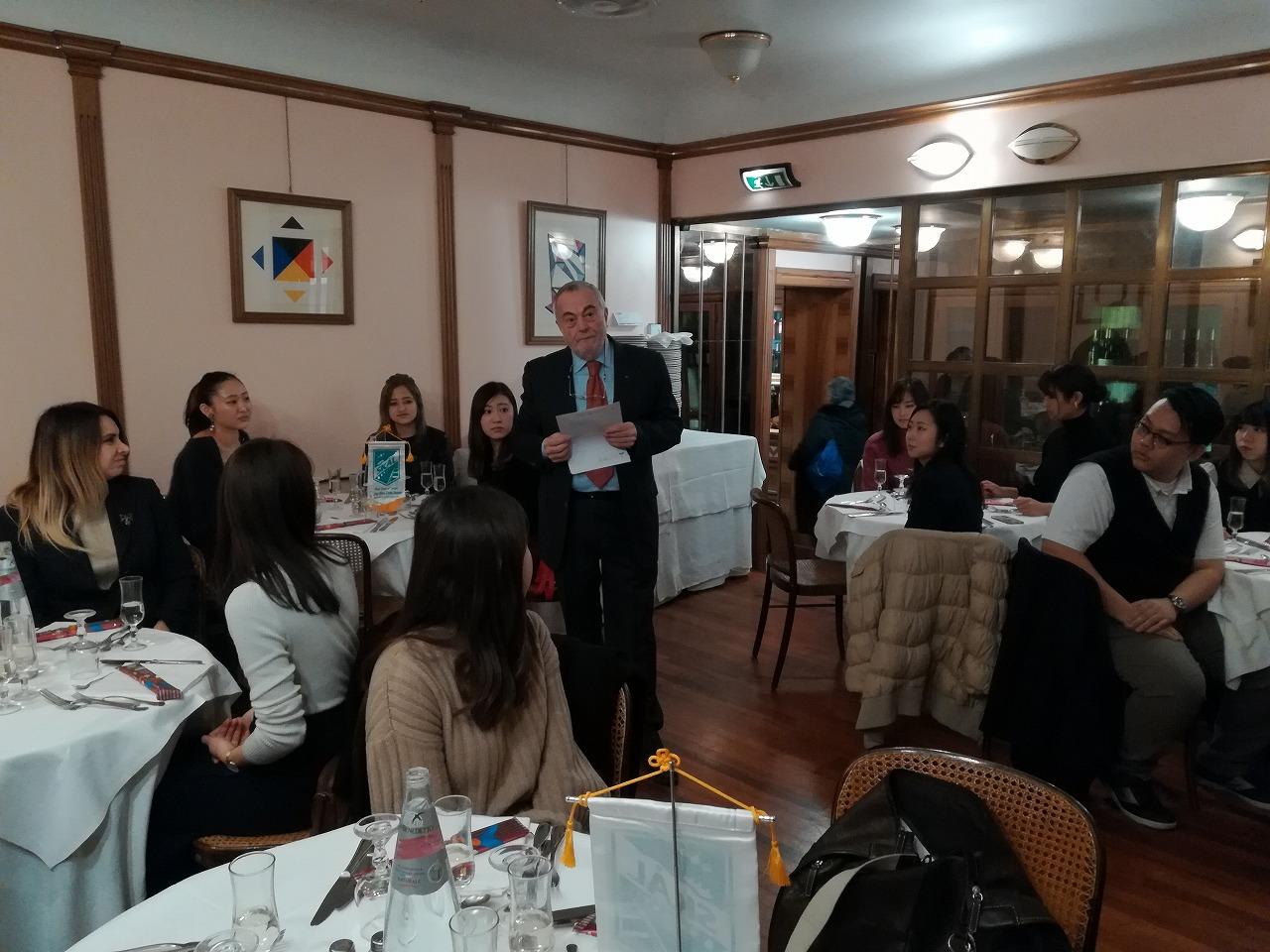 President Skal Rome Antonio Percarioのスピーチ