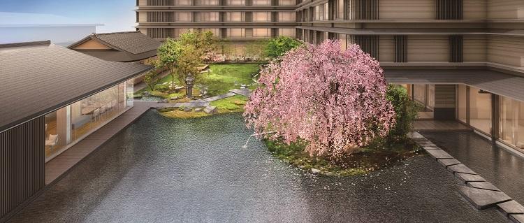 中庭(庭園と水盤)完成予想CG
