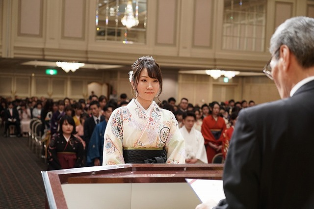 最優秀学生賞/昼間部ブライダル科木下彩希さん