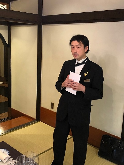 乾杯挨拶 鳴海圭介さん(1994年度卒業)