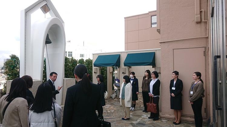 秋田キャッスルホテルの施設(チャペルや宴会場、スイートルームなど)を見学しました