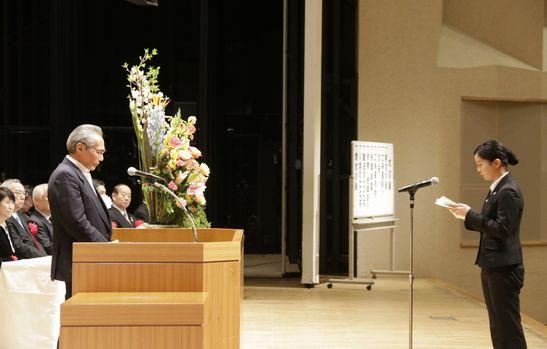 ◆入学のことば 夜間部ホテル科1年 小野 莉奈さん 青森県立田名部高校出身
