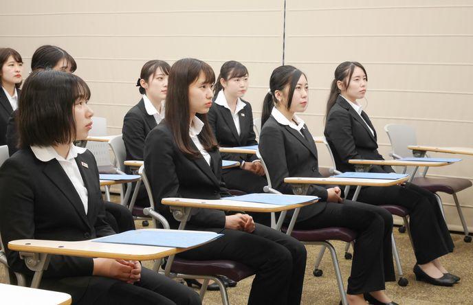 各クラスの模範となる学生の皆さんです
