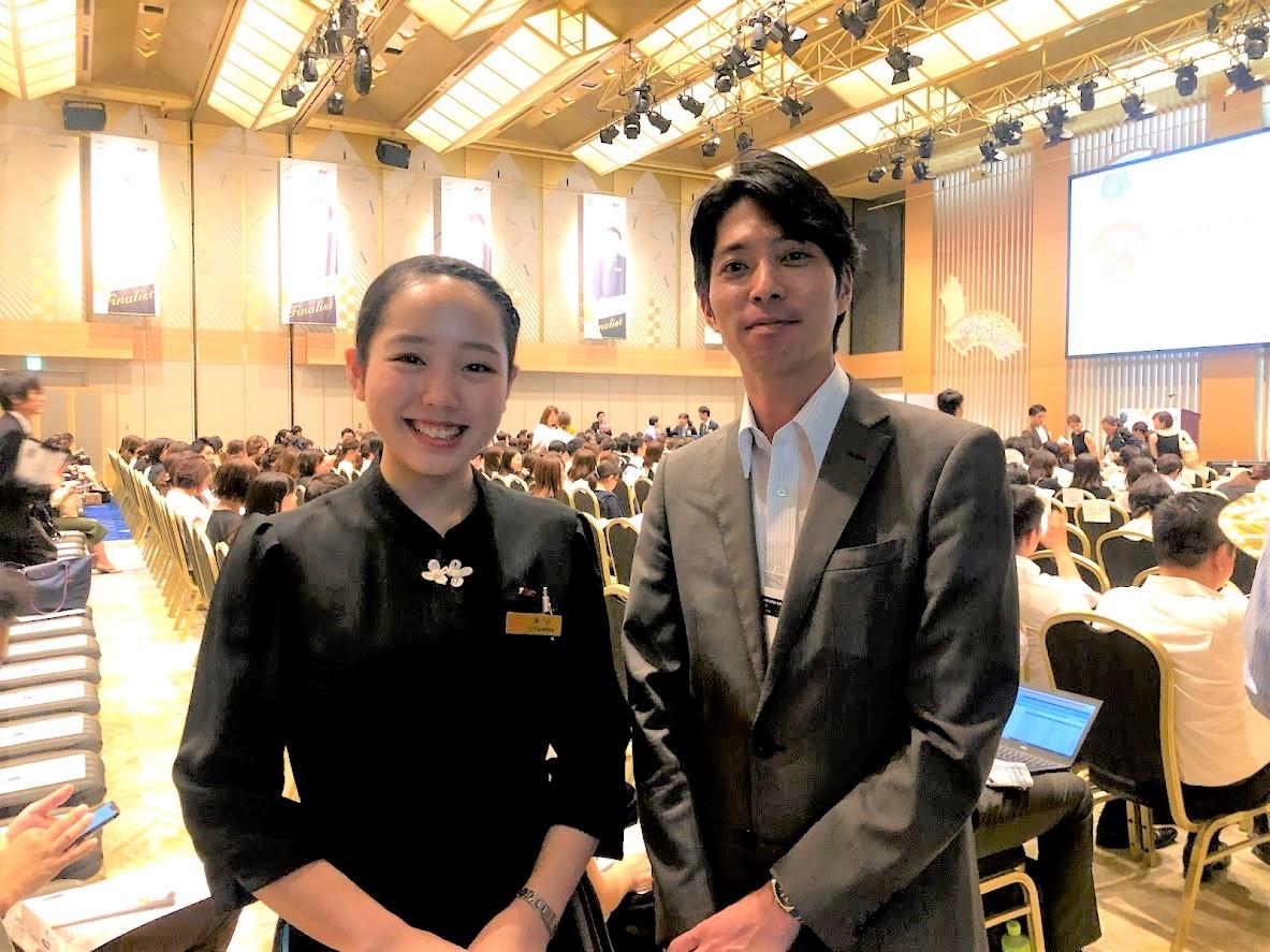 ホテル雅叙園東京で勤務の卒業生の塚田さん