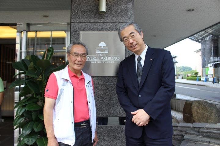 一般社団法人全日本シティホテル連盟会長清水様と