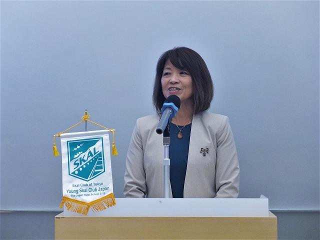 事務局長の田中映子氏(Secretary/Treasurer, Skal International Tokyo / Market Director, Northwest Territories Tourism GSA Japan)