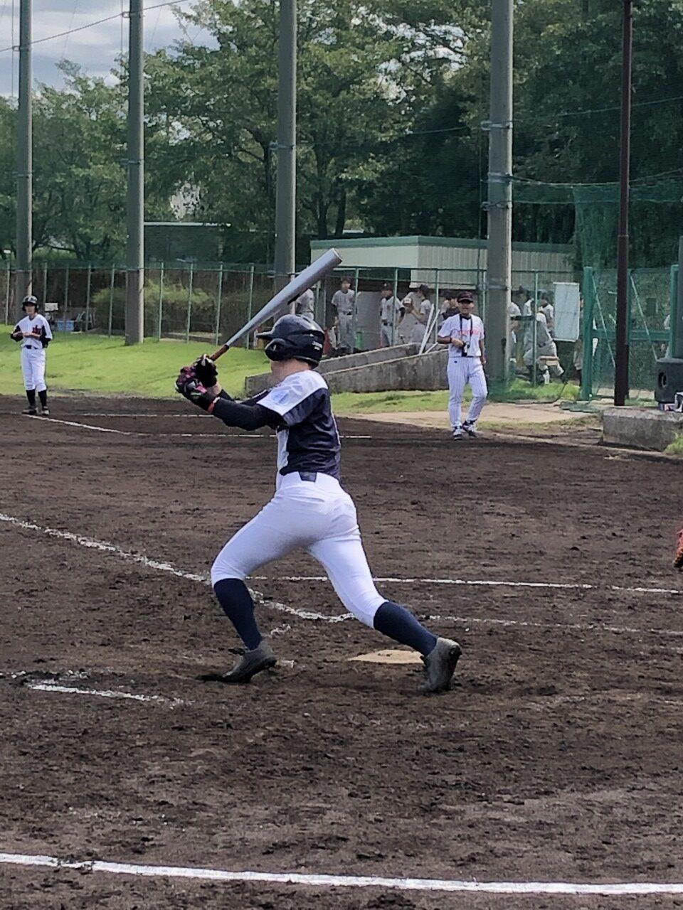【野球部】秋季大会、右打ちでクリーンヒット