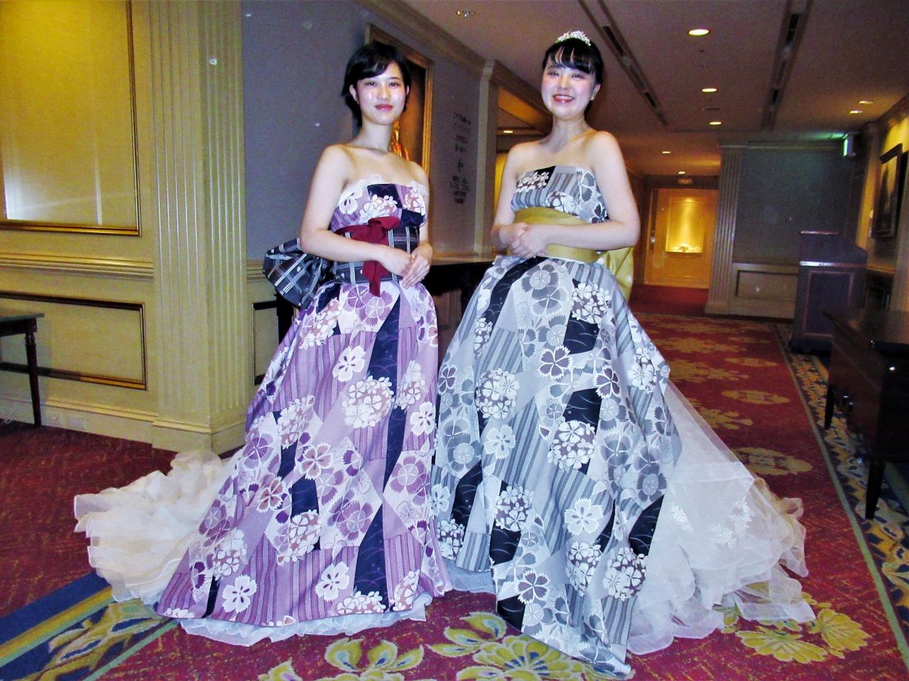チーム「掌」より、ドレスと袴を組み合わせたオリエンタルドレス