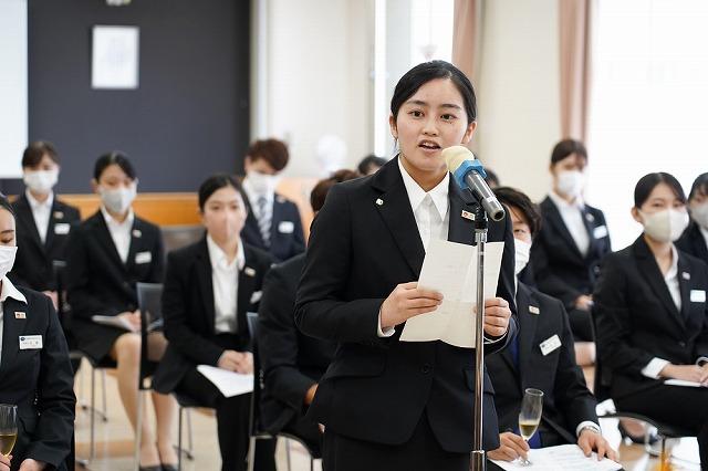 YSCJを代表し村田花恋さんから謝辞と挨拶