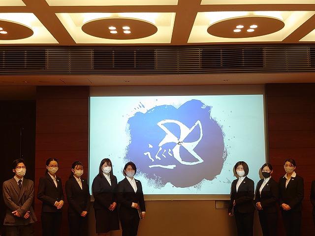 プレゼンテーション終了後に記念撮影 L-3グループ「巡(じゅん)」