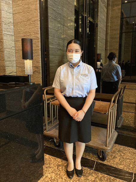 ゲストサービス勤務の学生(エクシブ箱根離宮)